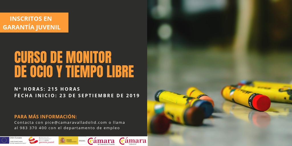 Curso De Monitor De Ocio Y Tiempo Libre Camara Valladolid